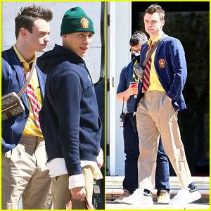 Thomas Doherty Spotted On 'Gossip Girl' Set After It Was Revealed He's Seeing Someone New