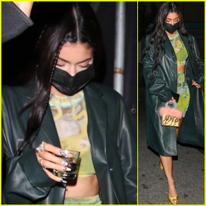 Kylie Jenner Leaves with a Drink in Hand After a Fun Night in LA