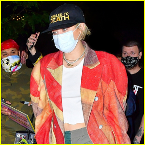 Miley Cyrus Rocks a Red Jacket While Arriving Back At Her Hotel After 'SNL' Rehearsals