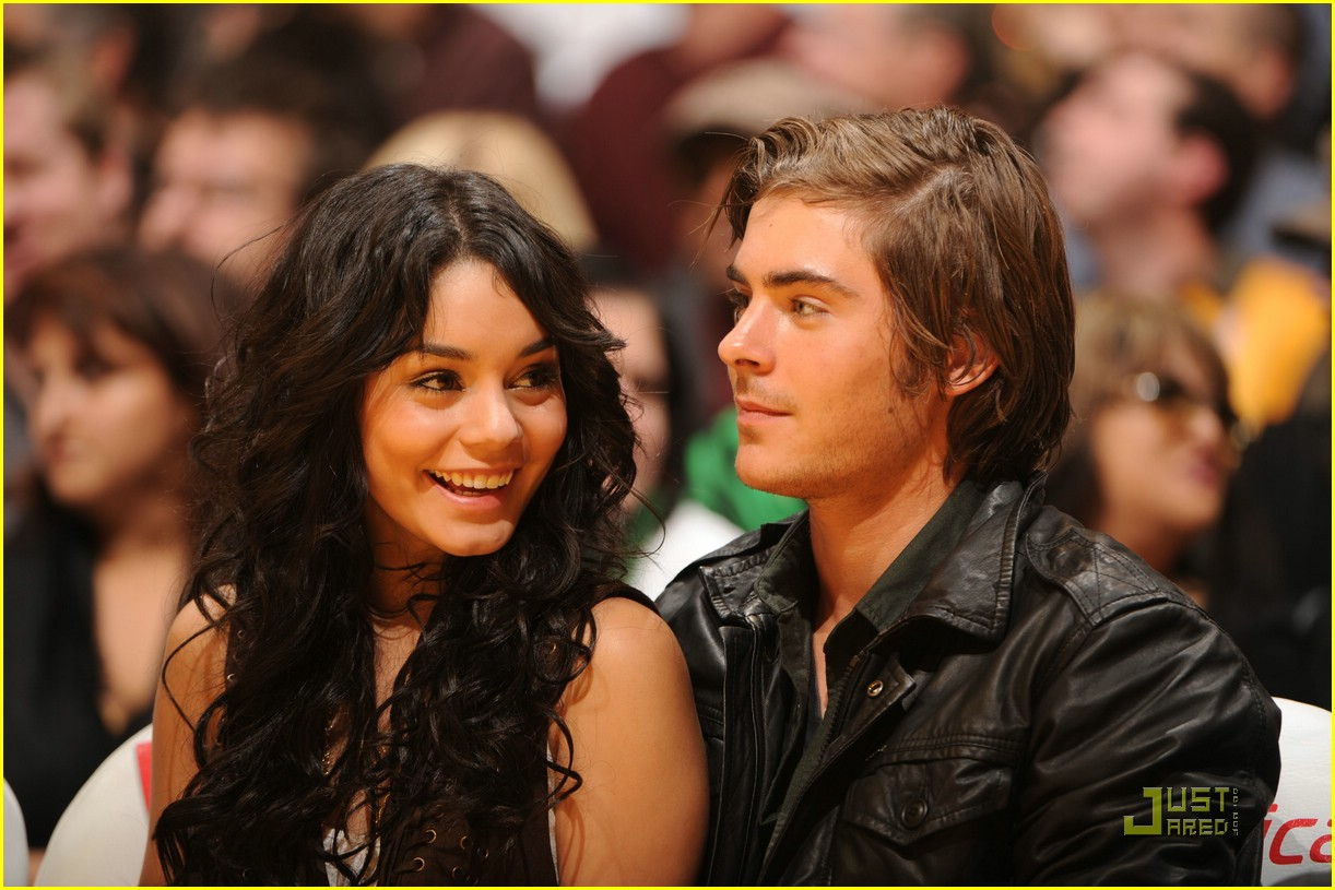 zac efron vanessa hudgens laker game 02