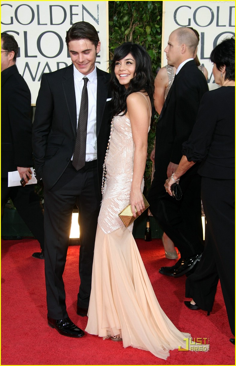vanessa hudgens zac efron golden globe 13
