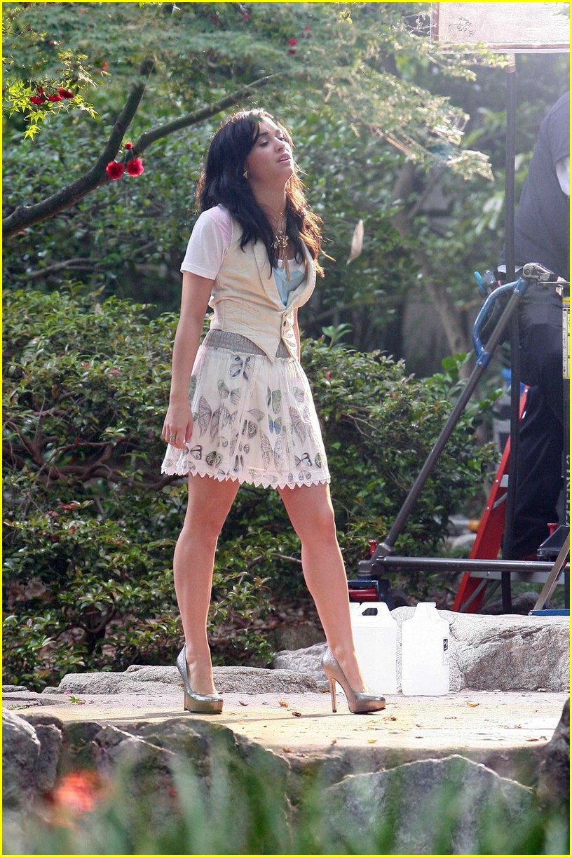 demi lovato again video shoot 01