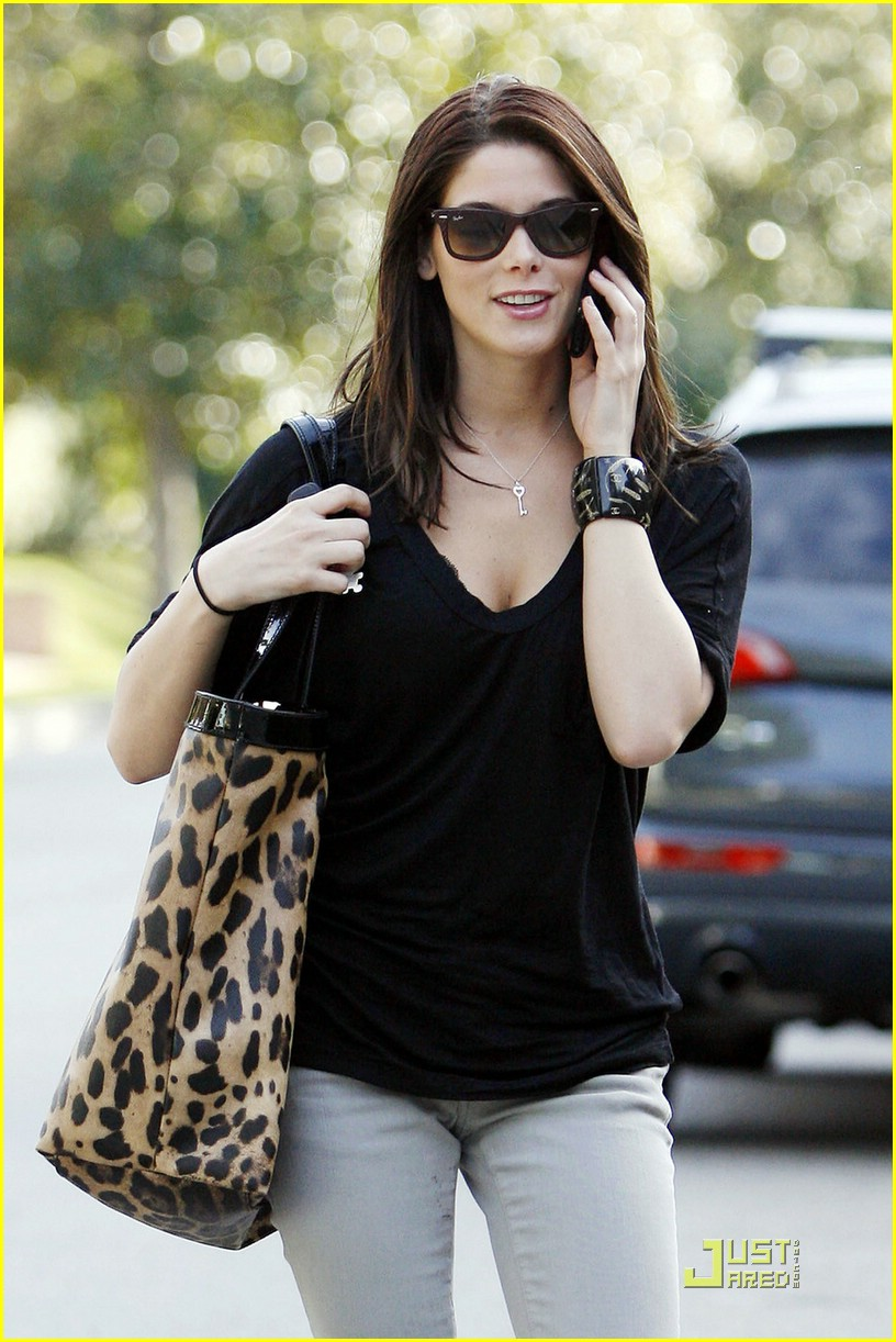 ashley greene leopard bag 04