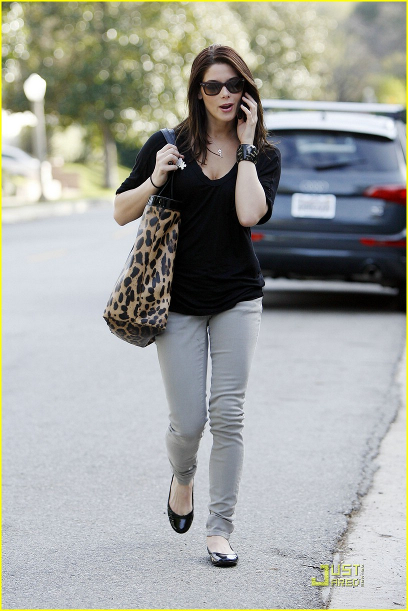 ashley greene leopard bag 10