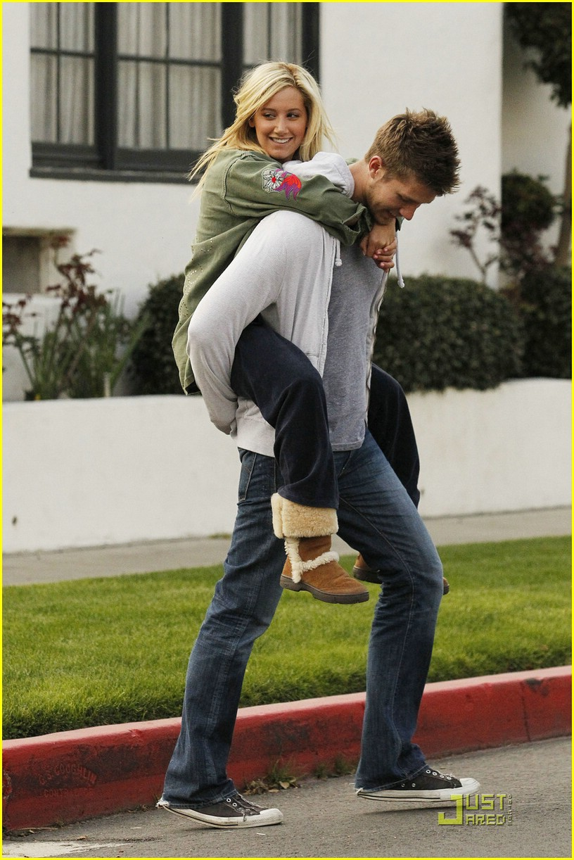 ashley tisdale scott speer piggyback 04