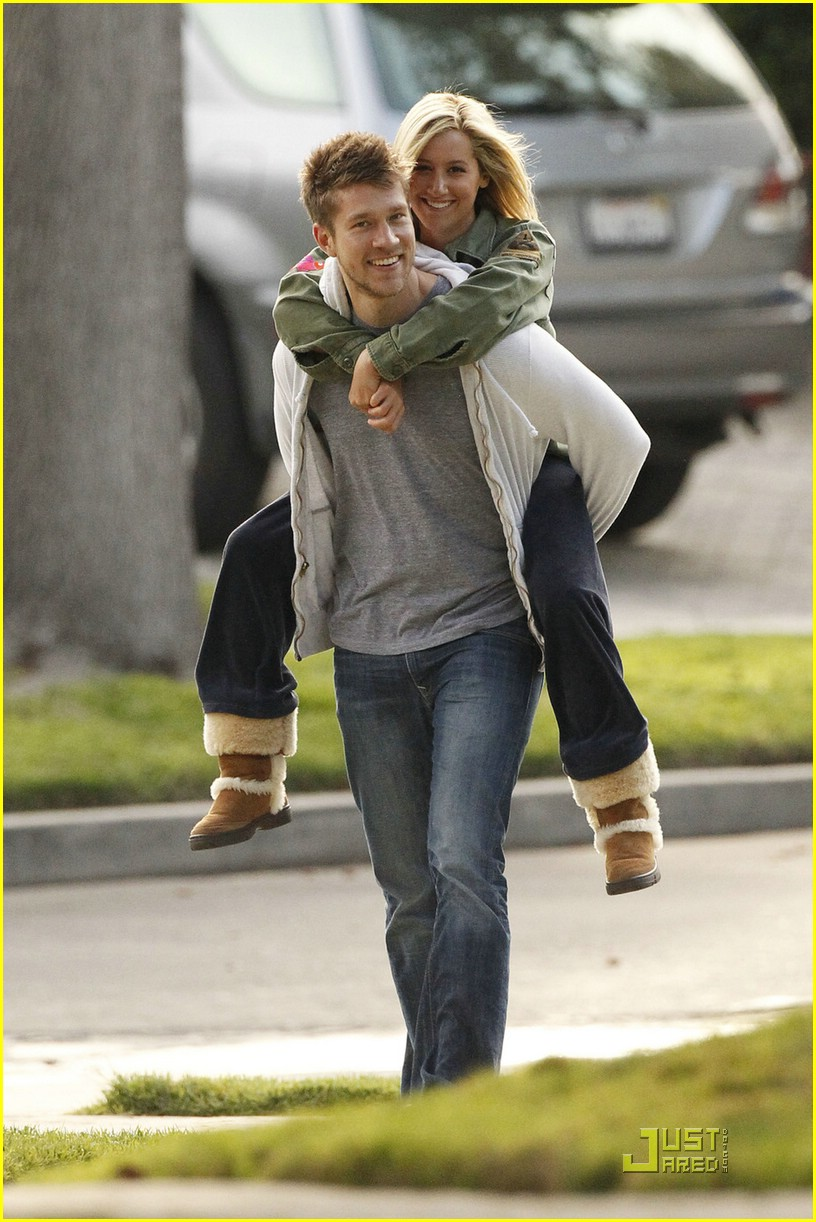 ashley tisdale scott speer piggyback 05