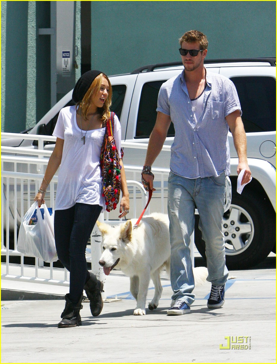 miley cyrus liam hemsworth petco 02