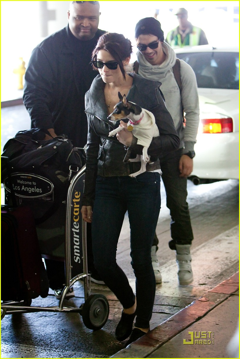 ashley greene joe jonas lax 08