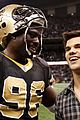Lautner-saints taylor lautner sunday saints 01