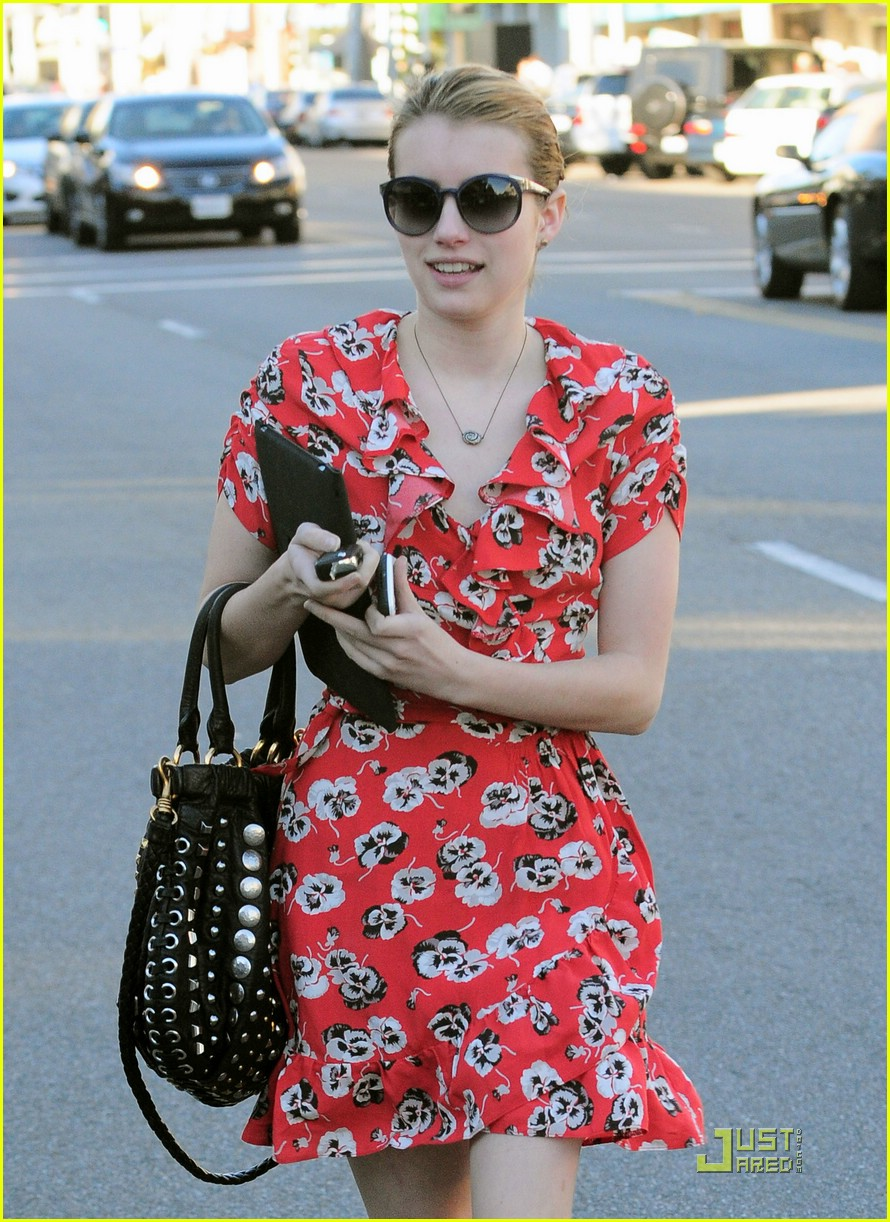 emma roberts kate moss topshop dress 02