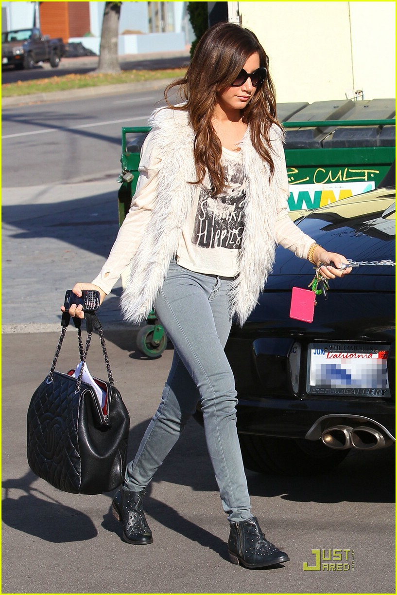 ashley tisdale fuzzy vest 19