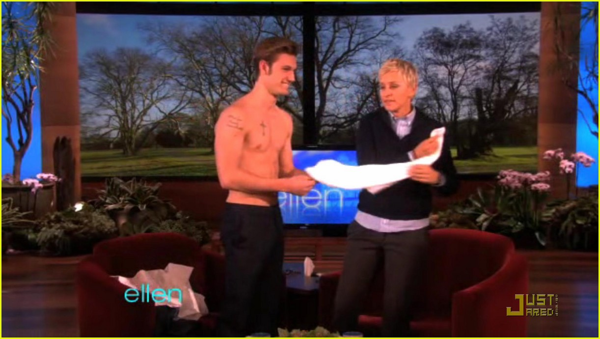 alex pettyfer loses his shirt for ellen 01