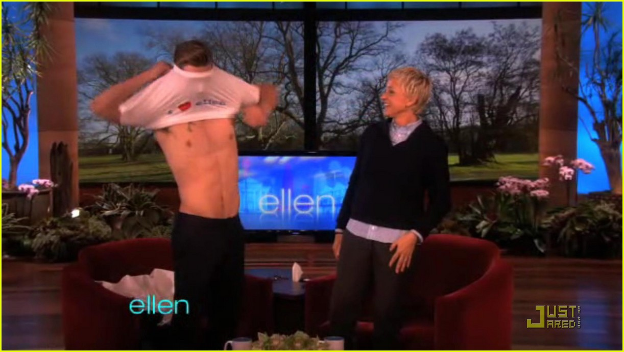 alex pettyfer loses his shirt for ellen 03