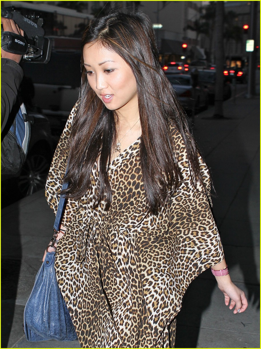 brenda song cheetah coat 01