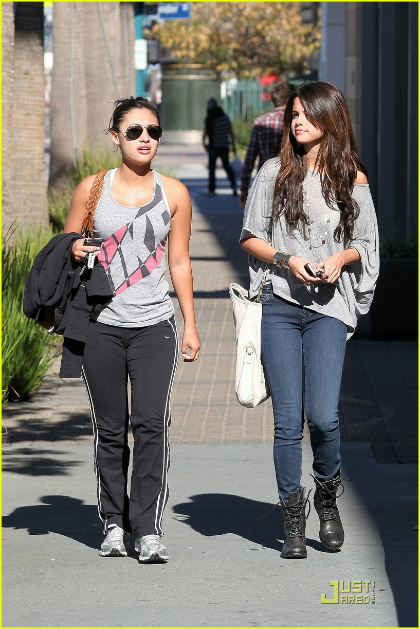 Francia Raisa And Selena Gomez Dancing Gomez And Francia Raisa