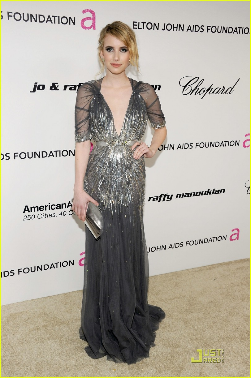 emma stone roberts oscar parties 13