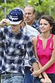 Justin-selena selena gomez justin bieber helicopter brazil 09