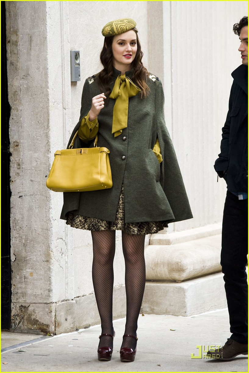 leighton meester gg greencoat 14