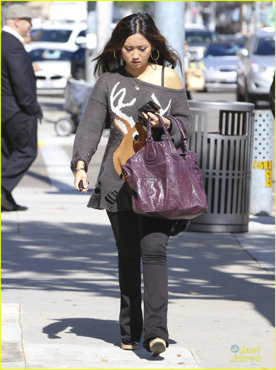 brenda song deer sweater 08