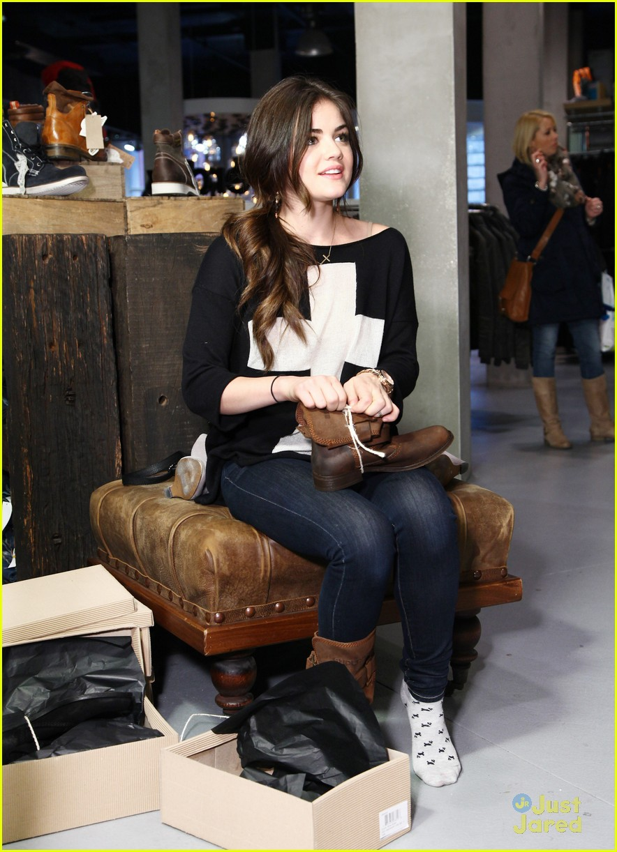 lucy hale superdry shopper 31