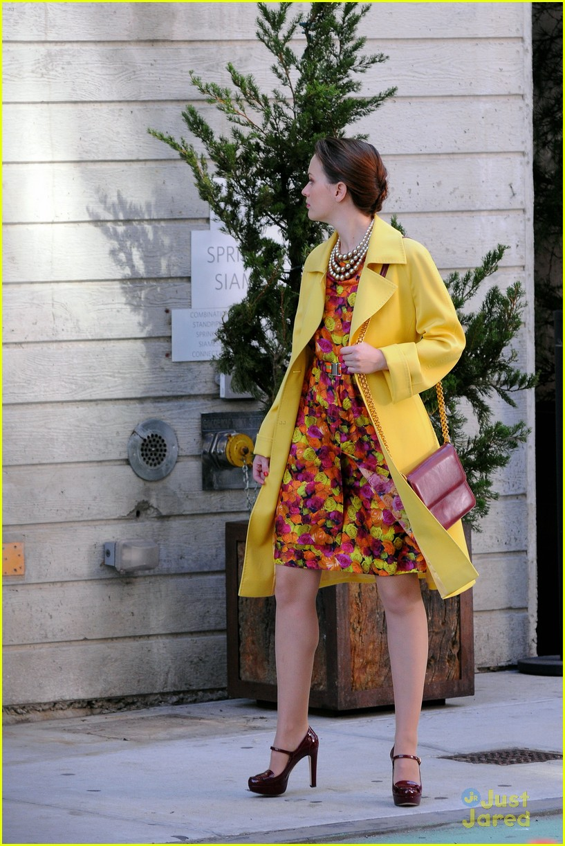 leighton meester floral dress gg 10