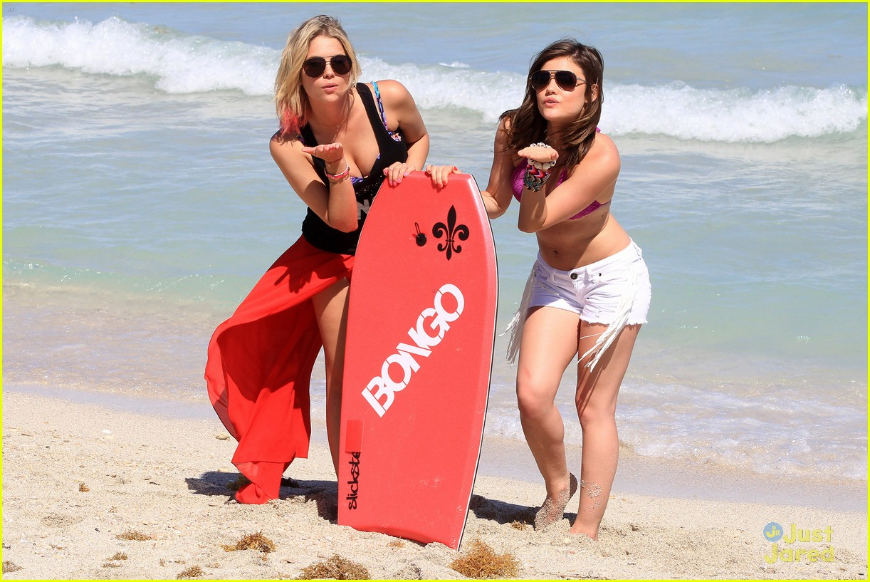 lucy hale ashley benson bongo beach 03