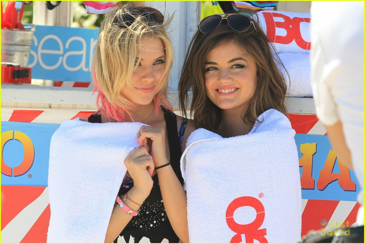 lucy hale ashley benson bongo beach 27