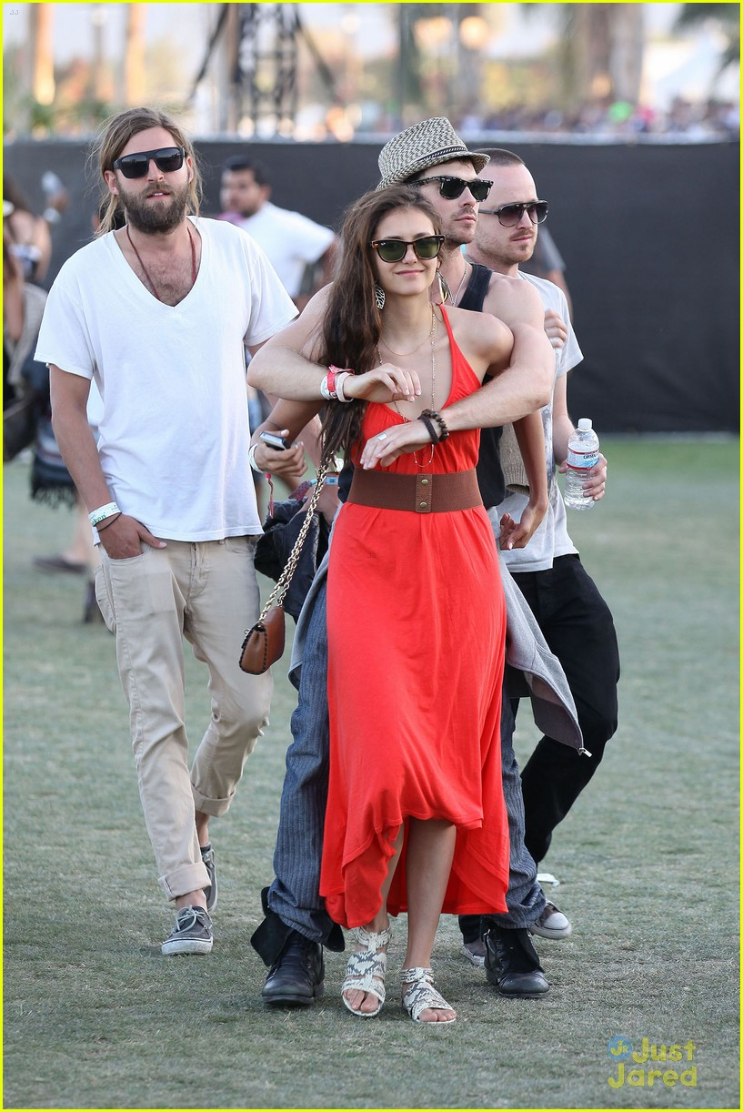 nina dobrev ian somerhalder red dress 15