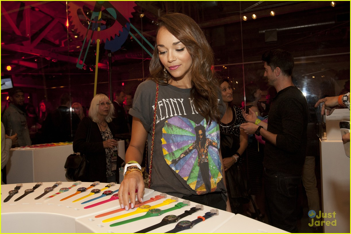 ashley madekwe swatch launch 05