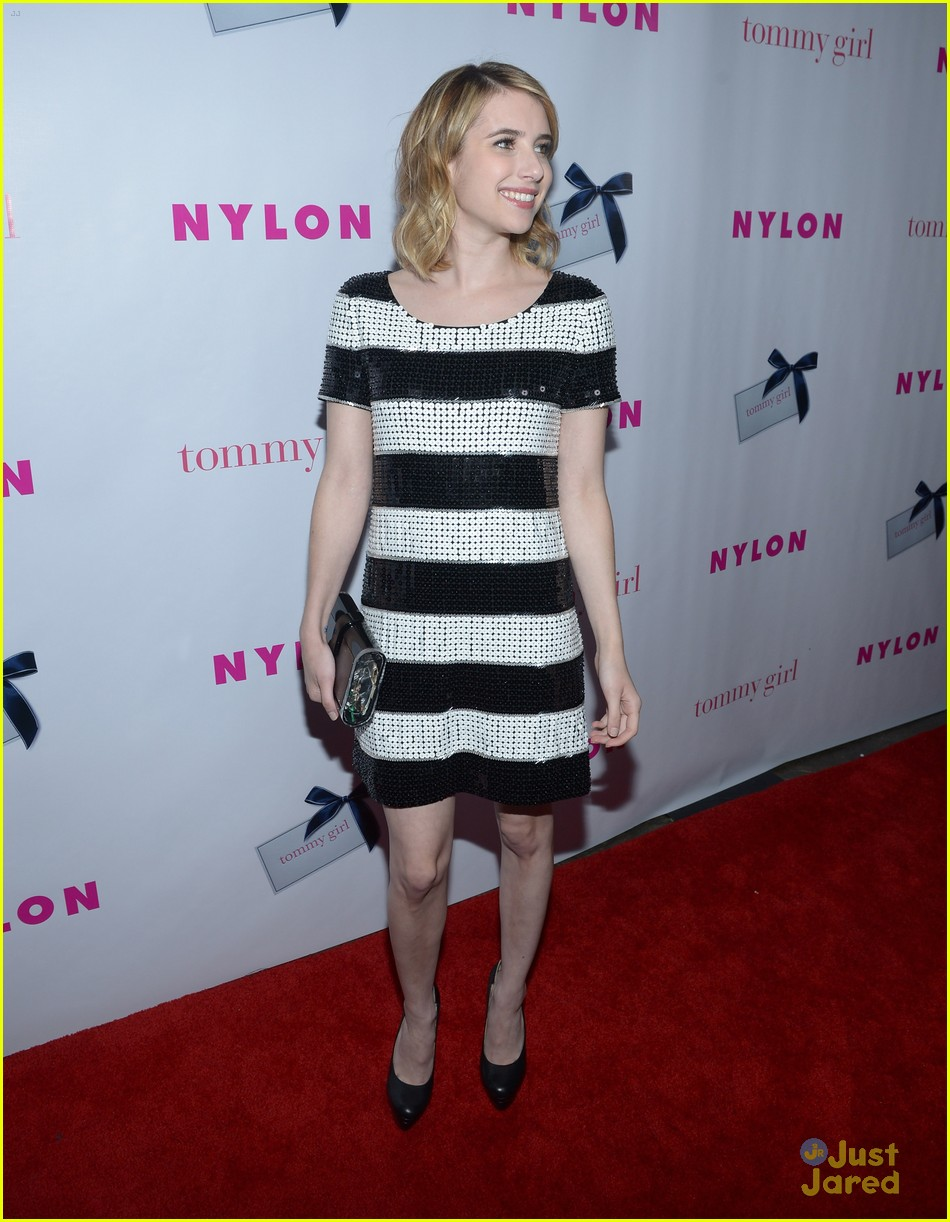 emma roberts nylon party 15