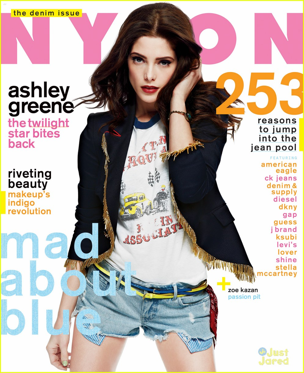 ashley greene nylon denim issue 02