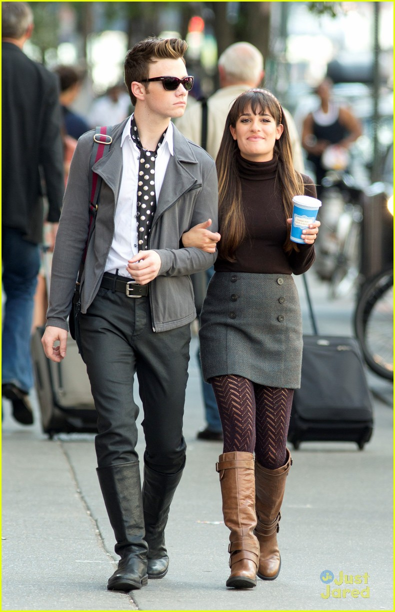 lea michele cory montieth glee nyc 15
