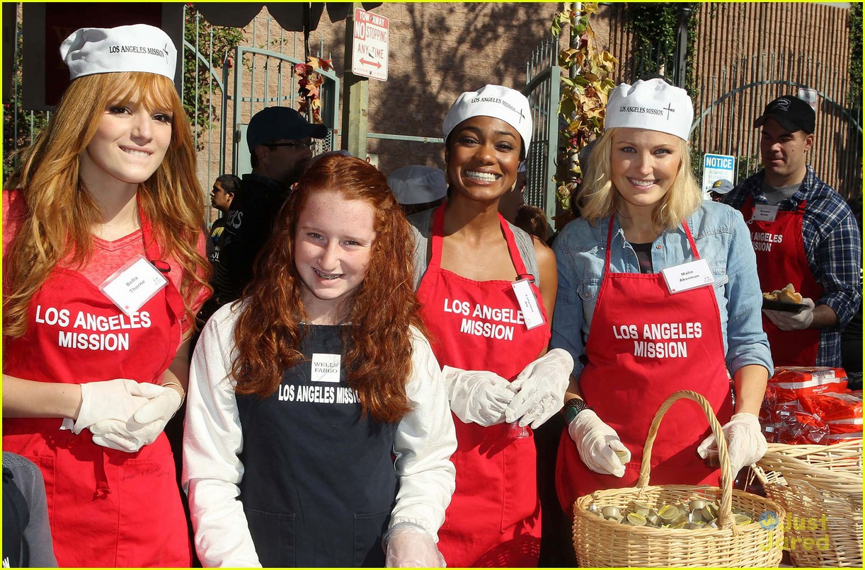 bella thorne christian serratos la mission thanksgiving 09