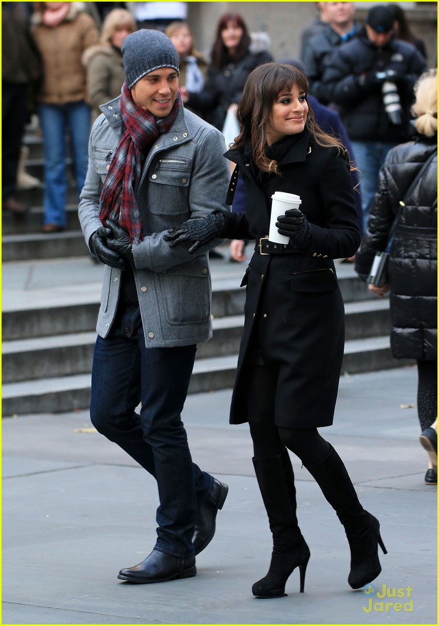lea michele chris colfer dean geyer glee nyc 07
