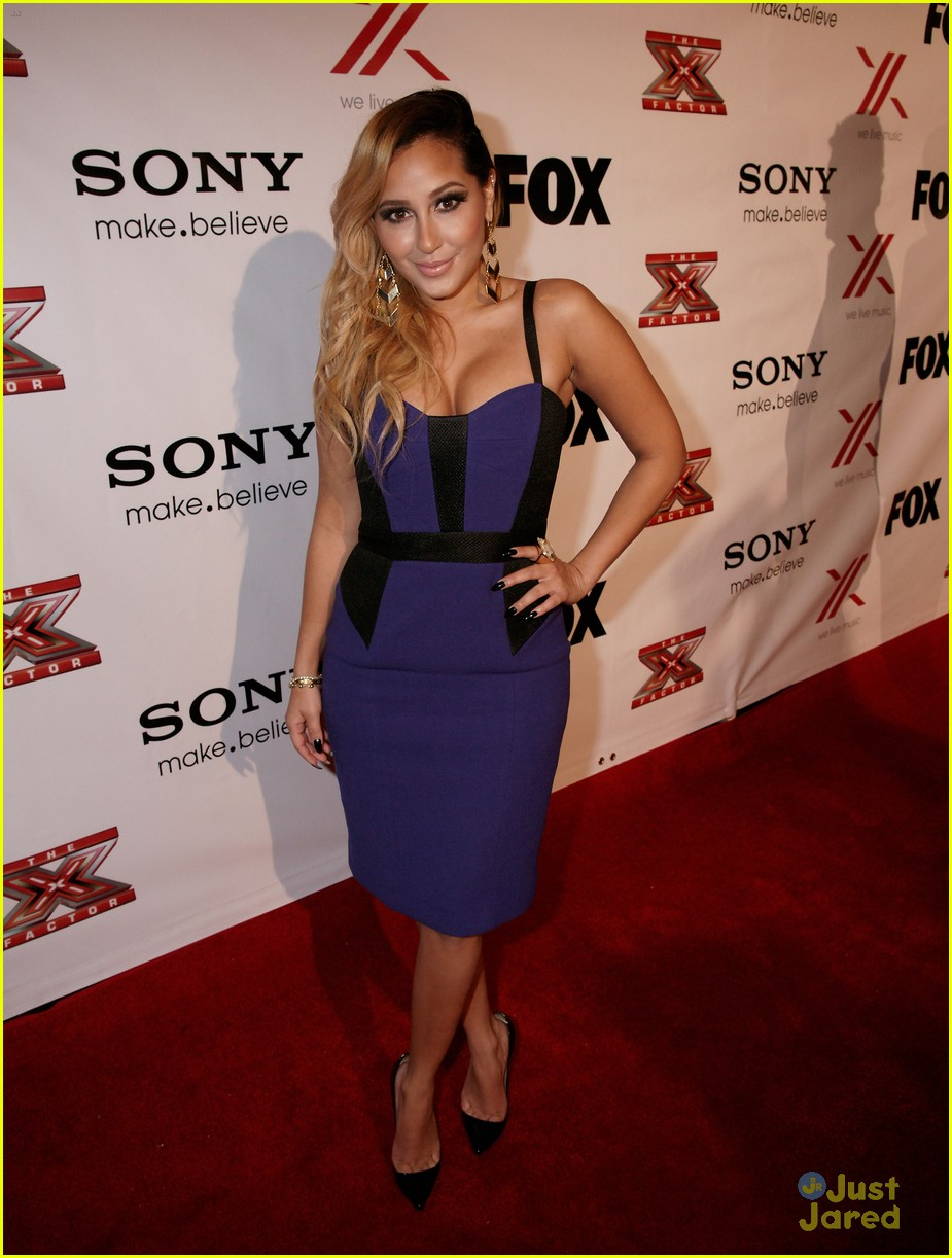 adrienne bailon giving awards xfactor viewing party 01