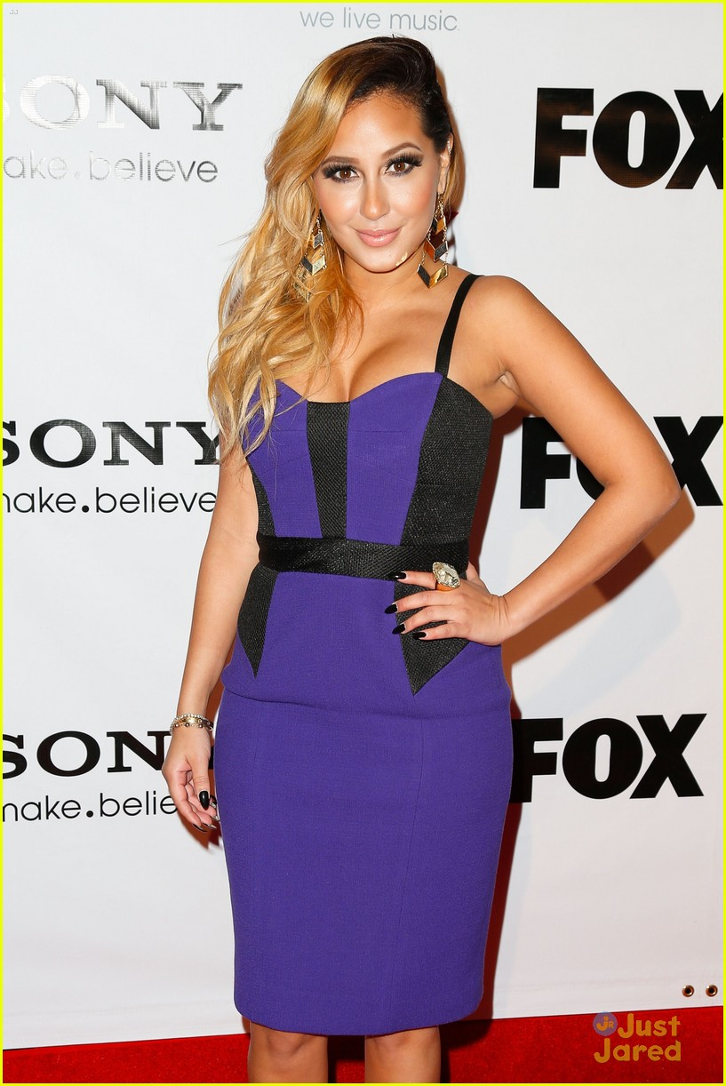 adrienne bailon giving awards xfactor viewing party 03