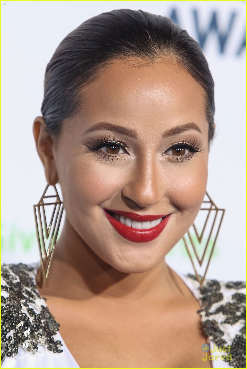 adrienne bailon giving awards xfactor viewing party 15