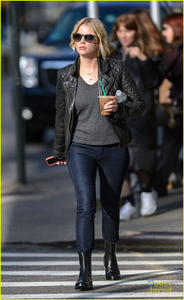 ashley benson starbucks nyc 01