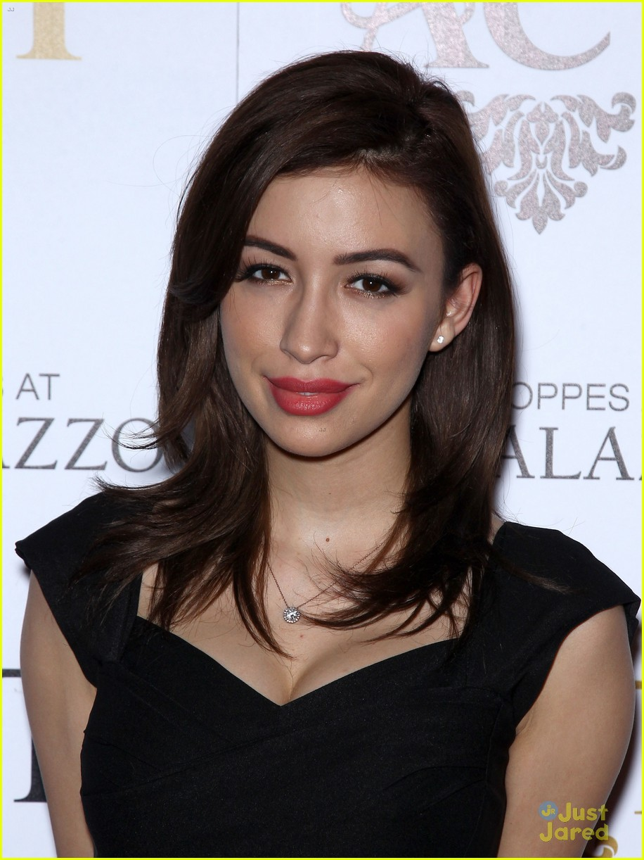 christian serratos vegas holiday party 04