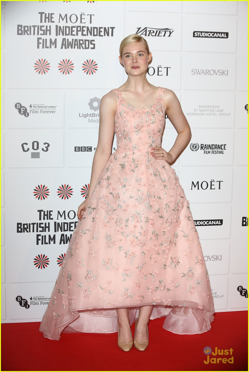 elle fanning british independent awards 01
