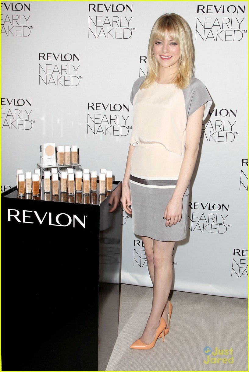emma stone nearly naked revlon 10