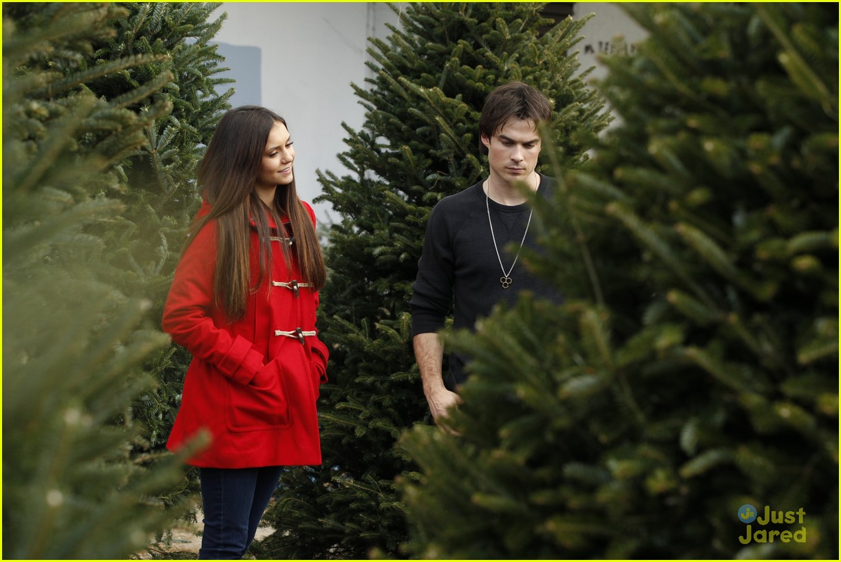nina dobrev ian somerhalder tree shopping 01