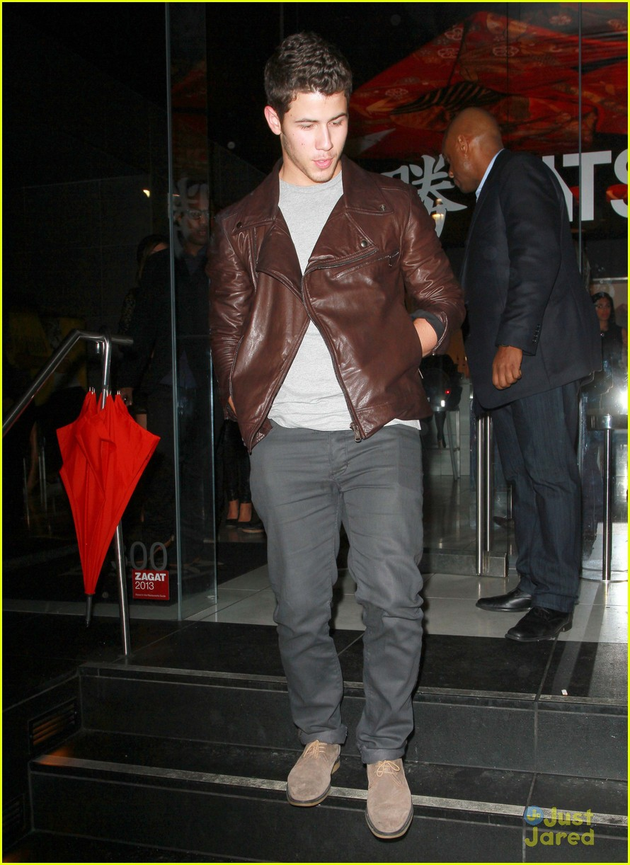 joe nick kevin jonas katsuya dinner 01