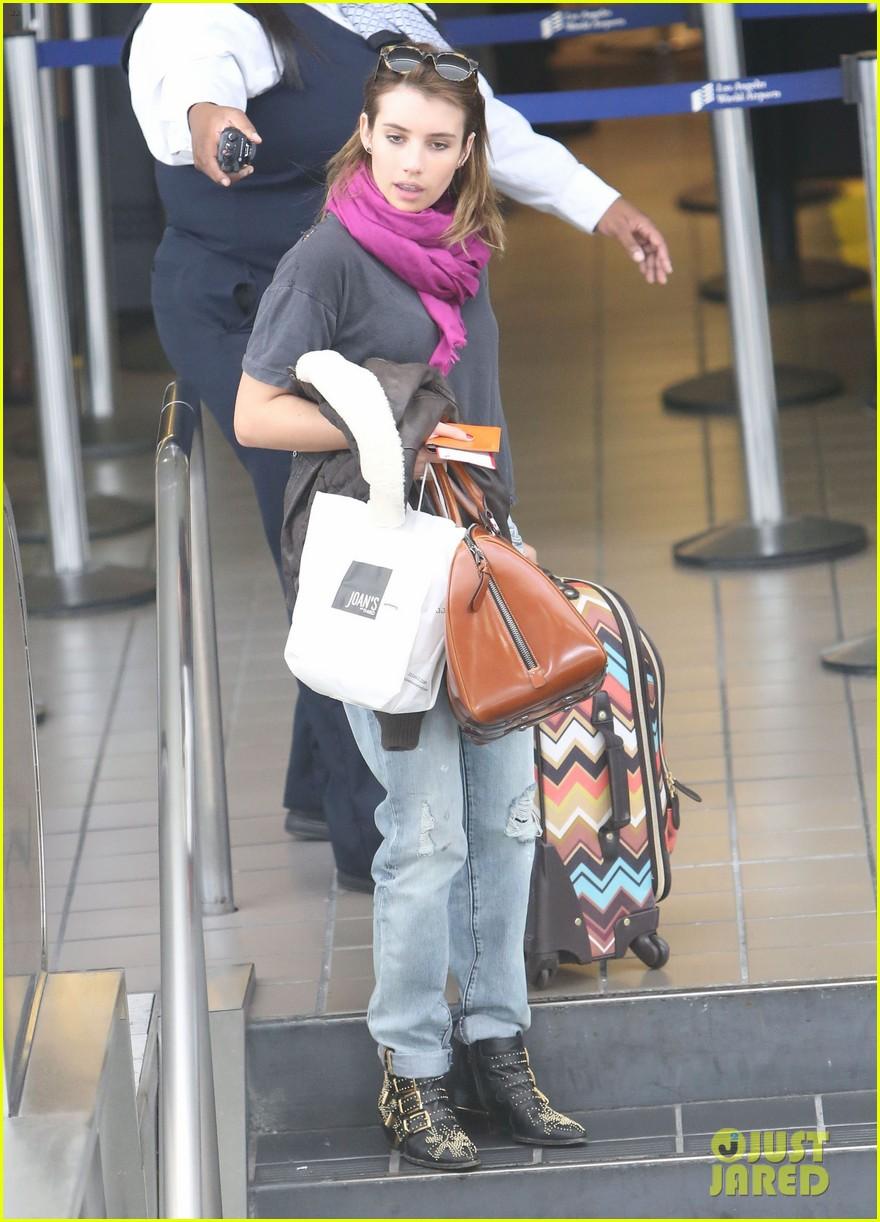 emma roberts lax departure 22