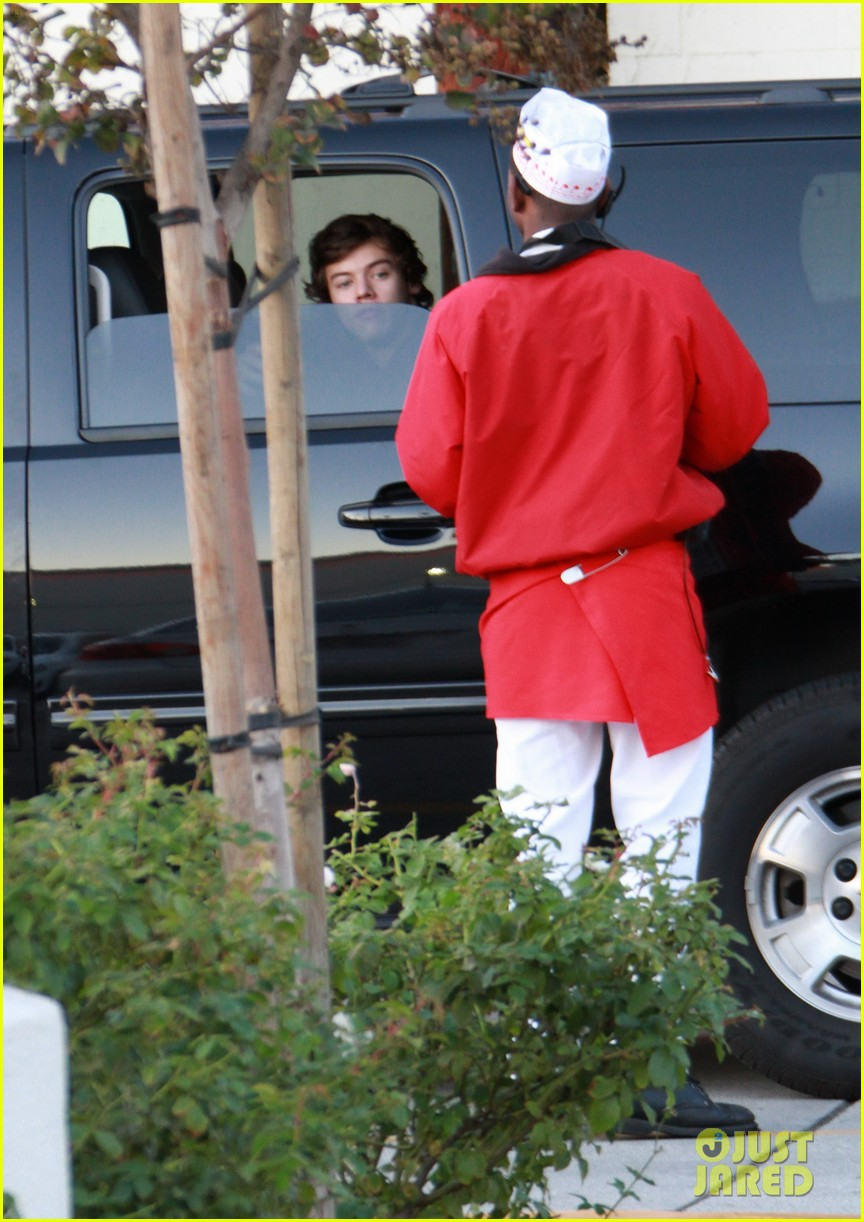 harry styles in n out drive thru 14