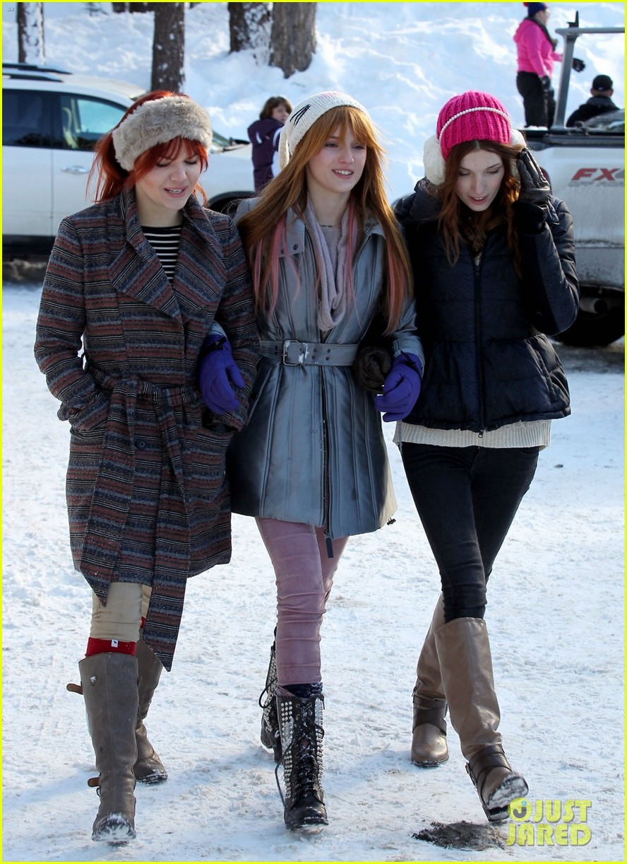 bella thorne snow tubing 02