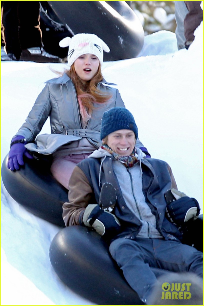 bella thorne snow tubing 07