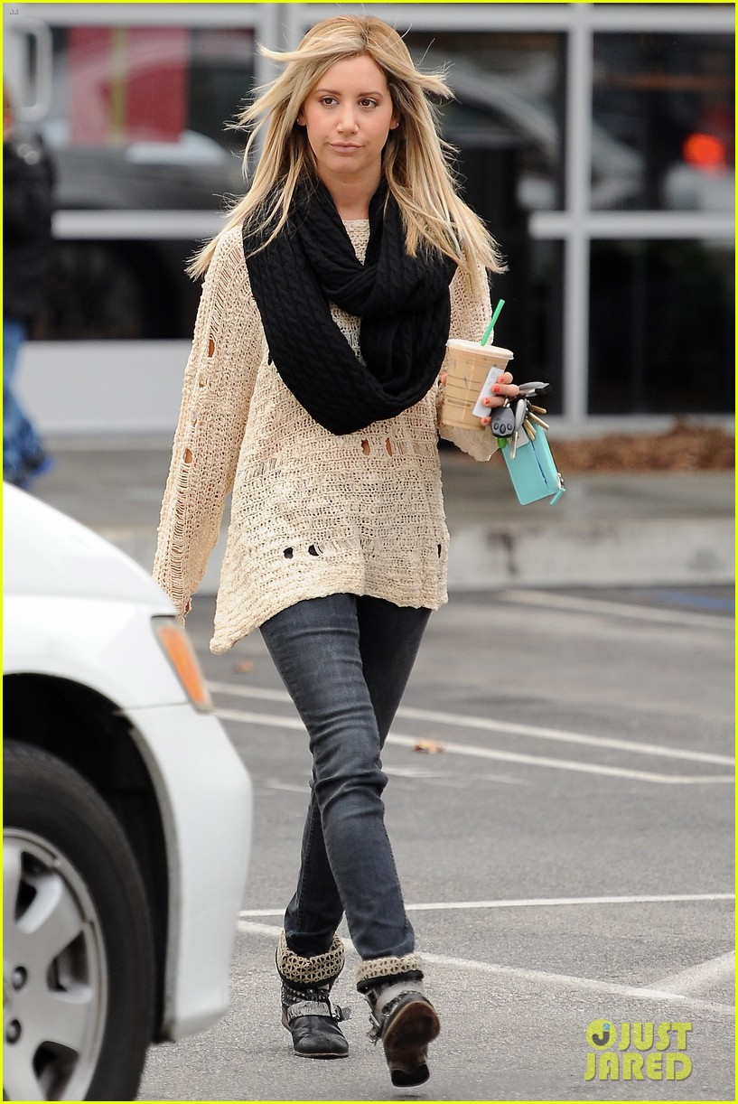 ashley tisdale starbucks studio city 12