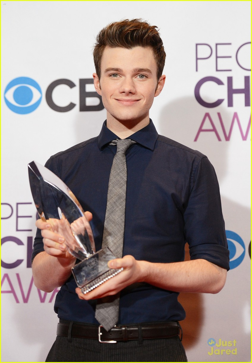 chris colfer lea michele pca 2013 winners 20