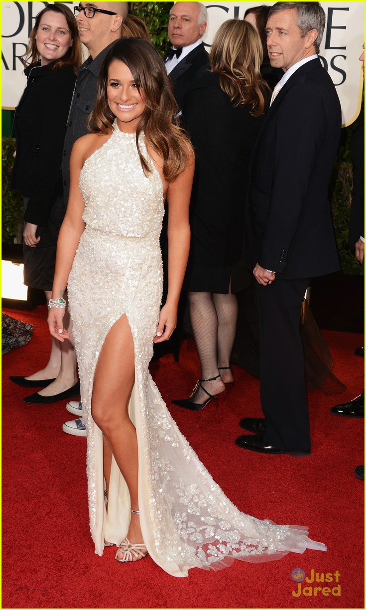 lea michele golden globes 14
